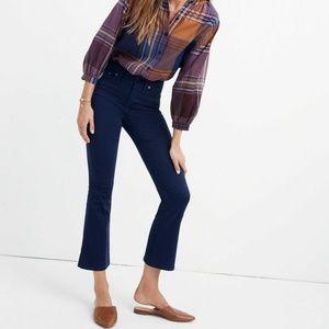 MADEWELL Navy Blue Cali Demi Boot Cut Sateen Jeans